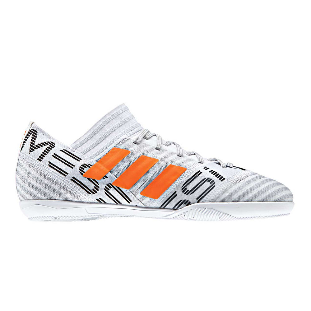 b6448e049 adidas Nemeziz Messi 17.3 Junior Indoor Soccer Shoes White / Orange US 1,  White /