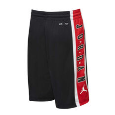 Nike Boys Air Jordan Rise Shorts Black / Red S, Black / Red, rebel_hi-res