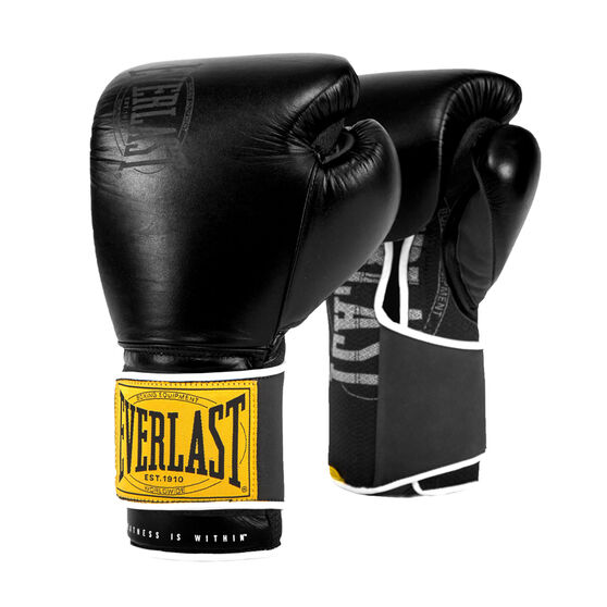 Everlast 1910 Classic Training Boxing Gloves Black 12oz, Black, rebel_hi-res