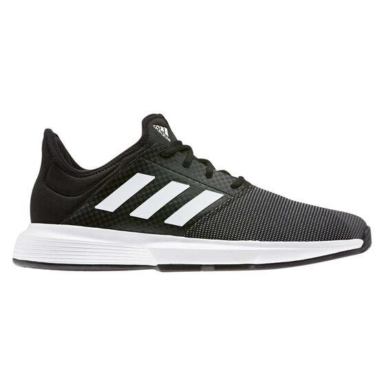 adidas GameCourt Mens Tennis Shoes, Black / White, rebel_hi-res