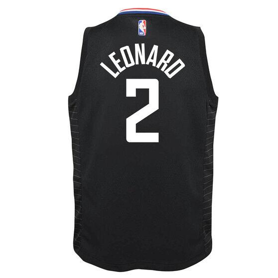Jordan Los Angeles Clippers Kawhi Leonard 2020/21 Kids Statement Swingman Jersey, Black, rebel_hi-res