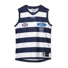 Geelong Cats 2020 Kids Away Guernsey Blue / White 8, Blue / White, rebel_hi-res