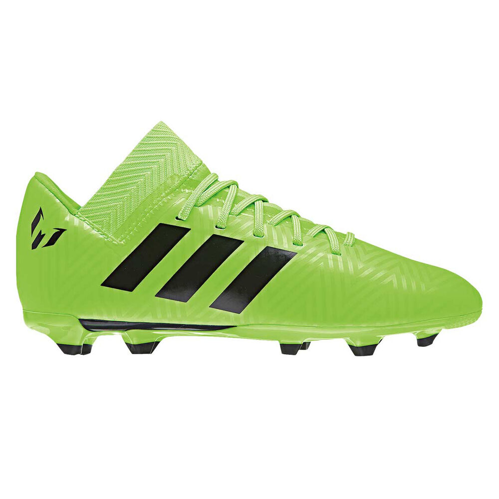 reputable site ada52 73a9f adidas Nemeziz Messi 18.3 Junior Football Boots Green   Black US 11, Green    Black
