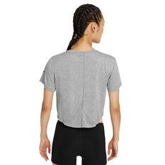 Nike Womens Dri-FIT One Colourblock Tee Grey XS, Grey, rebel_hi-res