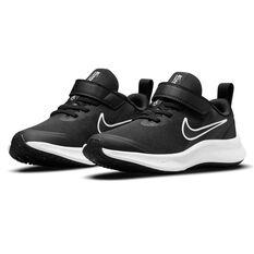 Nike Star Runner 3 Kids Running Shoes, Black/Grey, rebel_hi-res
