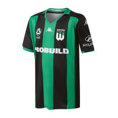 Western United 2019/20 Kids Home Jersey Black / Green 8, Black / Green, rebel_hi-res