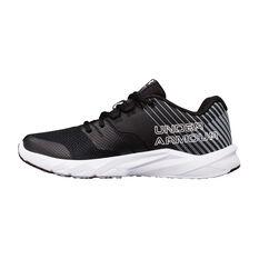 Under Armour Primed 2 Boys Running Shoes Black / White US 4, Black / White, rebel_hi-res