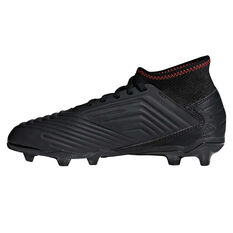 adidas Predator 19.3 Kids Football Boots Black / Red US 12, Black / Red, rebel_hi-res