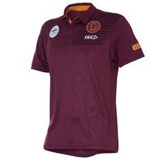 Brisbane Broncos 2018 Mens Performance Polo Shirt Maroon S, Maroon, rebel_hi-res