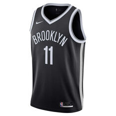 Nike Brooklyn Nets Kyrie Irving 2020/21 Mens Icon Edition Authentic Jersey Black S, Black, rebel_hi-res