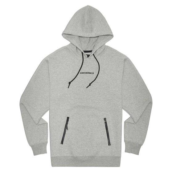 Converse Adult Court Zip Pullover Hoodie, Grey, rebel_hi-res