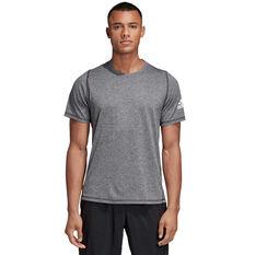 adidas Mens FreeLift Sport Ultimate Heather Tee Grey XS, Grey, rebel_hi-res