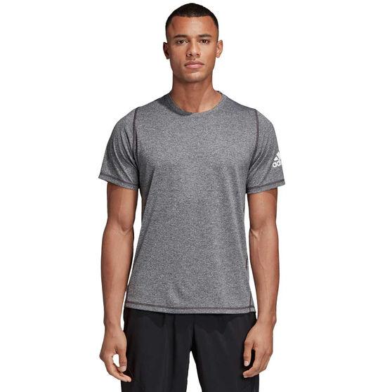 adidas Mens FreeLift Sport Ultimate Heather Tee, Grey, rebel_hi-res
