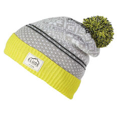 Elude Mens Alps Beanie Yellow / Grey OSFA, , rebel_hi-res