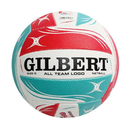 Gilbert Super Netball All Team Logo Ball 5, , rebel_hi-res