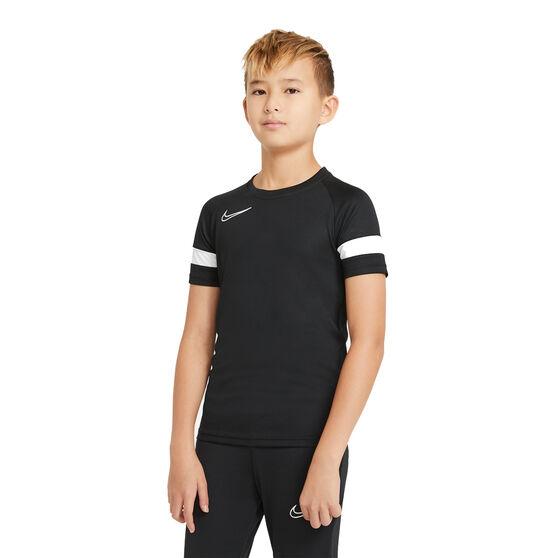 Nike Boys Dri-Fit Academy 21 Soccer Tee, Black, rebel_hi-res