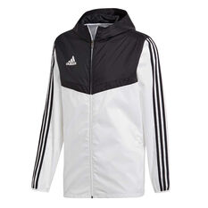 adidas Mens Tiro Windbreaker Jacket White XS, White, rebel_hi-res