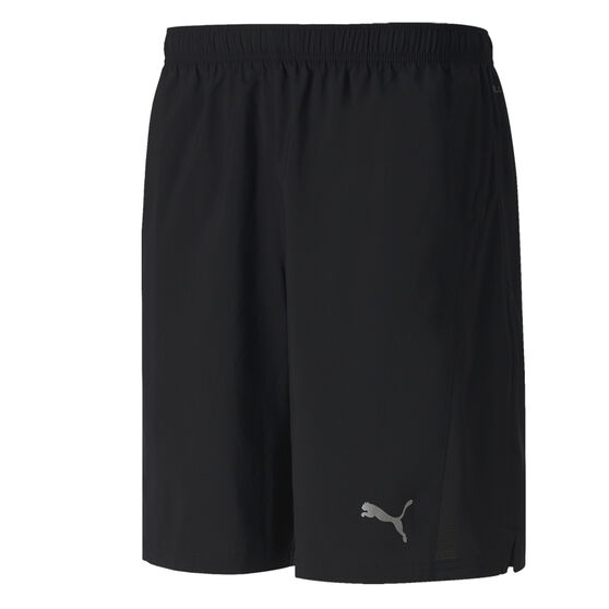 Puma Mens Session 9in Training Shorts, Black, rebel_hi-res