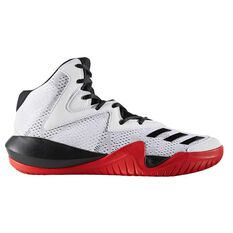 adidas Crazy Team 2017 Mens Basketball Shoes White / Black US 7, White / Black, rebel_hi-res