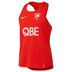 Sydney Swans Mens Training Singlet Red S, Red, rebel_hi-res