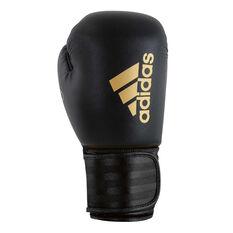 adidas Hybrid 100 Boxing Gloves Black 12oz, Black, rebel_hi-res