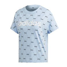 adidas Womens Core Favourites Tee, Blue, rebel_hi-res