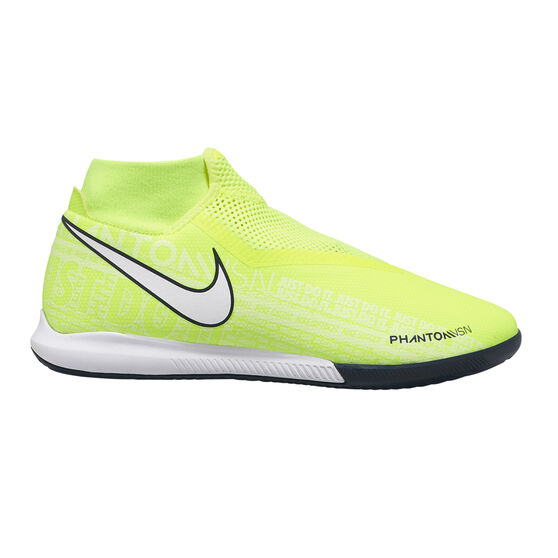 Nike Phantom Vision Academy Dynamic Fit Indoor Soccer Shoes, Green / White, rebel_hi-res