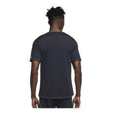 Nike Mens Dri-FIT Miler Wild Run Running Top Black S, Black, rebel_hi-res