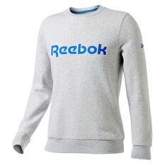 Reebok Mens Fleece Sweatshirt Grey XS, Grey, rebel_hi-res