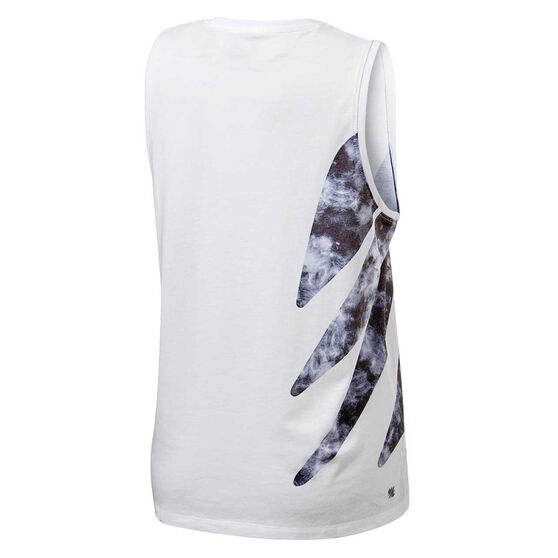 Ell & Voo Womens Taylor Muscle Tank, White, rebel_hi-res