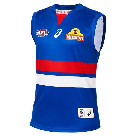 Western Bulldogs 2020 Kids Home Guernsey, Blue, rebel_hi-res