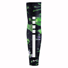 Nike Elite Kids Basketball Sleeve Black / Green S / M, Black / Green, rebel_hi-res