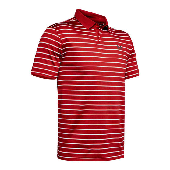 Under Armour Mens Performance 2.0 Divot Stripe Golf Polo, , rebel_hi-res