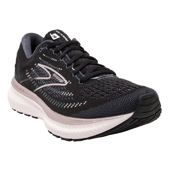 Brooks Glycerin 19 Womens Running Shoes, Black/Silver, rebel_hi-res