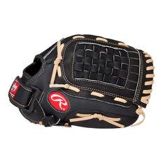 Rawlings SS Right Hand Throw Baseball Glove, Black / Brown, rebel_hi-res