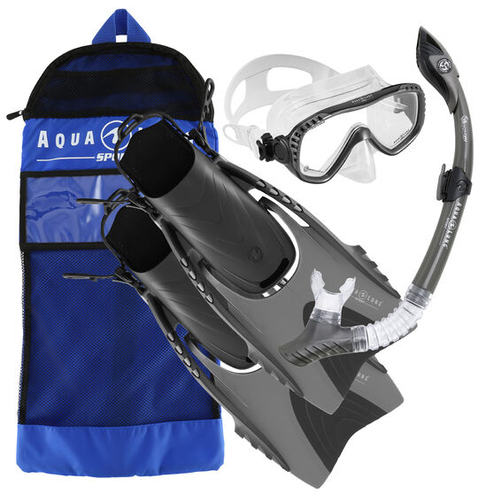 Aqua Lung Sport Adult Compass Snorkel Set, Grey, rebel_hi-res