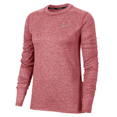 Nike Womens Dri-FIT Element Crew Running Top Pink XS, Pink, rebel_hi-res