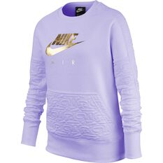 Nike Air Girls Fleece Sweatshirt Lavender XS, Lavender, rebel_hi-res