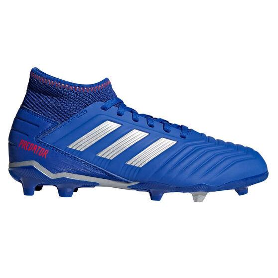 adidas Predator 19.3 Kids Football Boots, Blue / Silver, rebel_hi-res