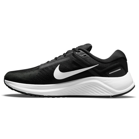 Nike Air Zoom Structure 24 Mens Running Shoes, Black/White, rebel_hi-res