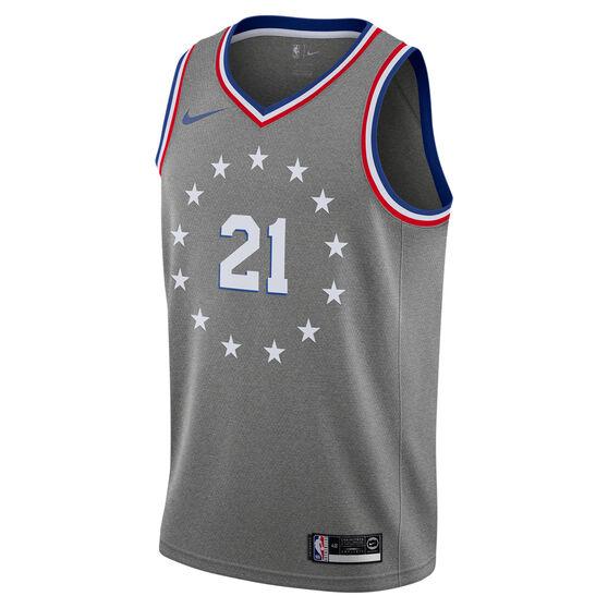 huge discount fe4bb 7e5c3 Nike Philadelphia 76ers Joel Embiid 2019 Mens City Jersey ...