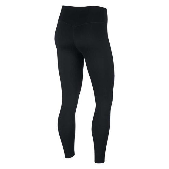 Nike Womens One 7/8 Tights, Black, rebel_hi-res