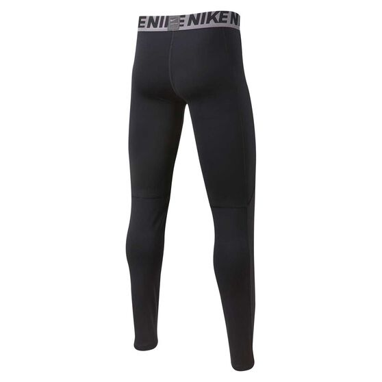Nike Pro Boys Training Tights, Black / White, rebel_hi-res