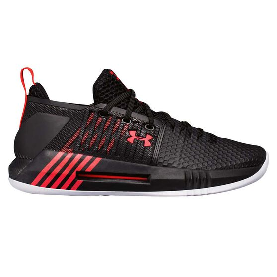 Under Armour Drive 4 Low Mens Basketball Shoes Black / Red US 8, Black / Red, rebel_hi-res
