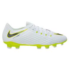 Nike Hypervenom Phantom III Academy Mens Football Boots White / Grey US 7, White / Grey, rebel_hi-res