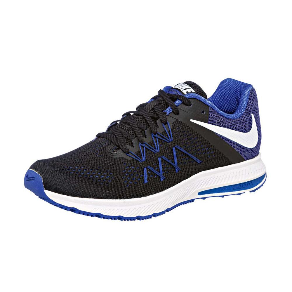 aa9292a649b6 Nike Zoom Winflo 3 Mens Running Shoes Black   Blue US 9.5