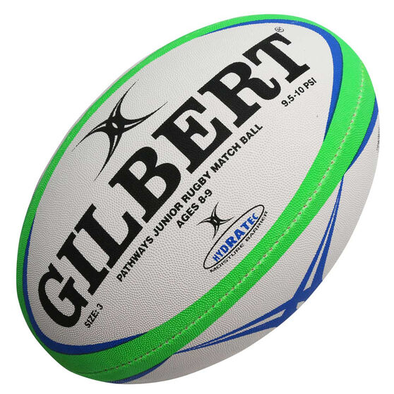 Gilbert Pathway Rugby Match Ball, Blue / White, rebel_hi-res