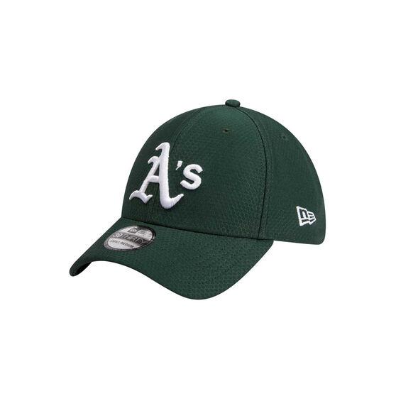 Oakland Athletics 2019 New Era 39THIRTY Hex Cap, Green / White, rebel_hi-res