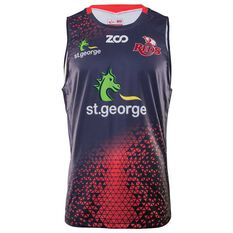 Queensland Reds 2018 Mens Training Singlet, , rebel_hi-res