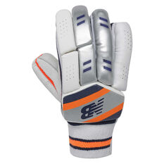 New Balance DC 400 Junior Cricket Batting Gloves Blue/Orange Junior Right Hand, Blue/Orange, rebel_hi-res